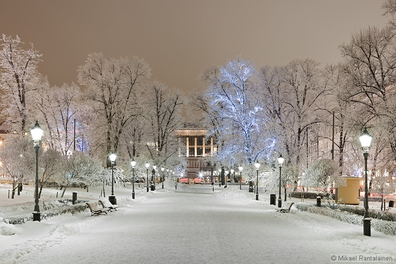 Winter magic in Esplanadi