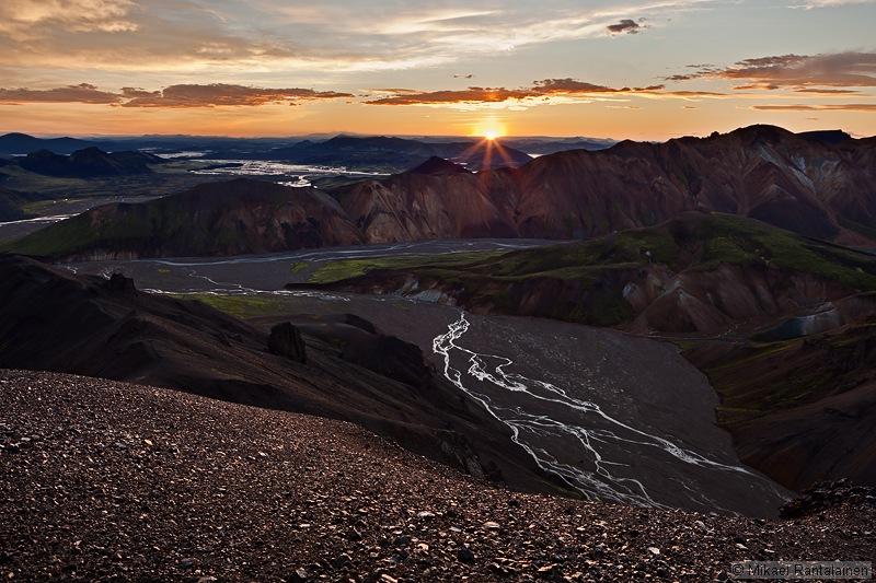 Sunrise from Bláhnúkur, Landmannalaugar, Iceland