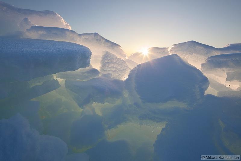 Pack ice in Lauttasaari, Helsinki