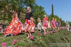 Marimekko Fashion Show 2014, Esplanade Park, Helsinki, Finland