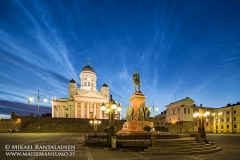 Noctilucent clouds at Senate Square, Helsinki, Finland (HK136)