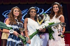 1st runner up Leina Ogihara, Miss Helsinki Kelly Kalonji, and 2nd runner up Iina Immonen, Miss Helsinki 2013 Final, Apollo Live Club, Helsinki, Finland