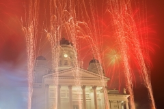 New Year 2013 Celebrations, Senate Square, Helsinki, Finland