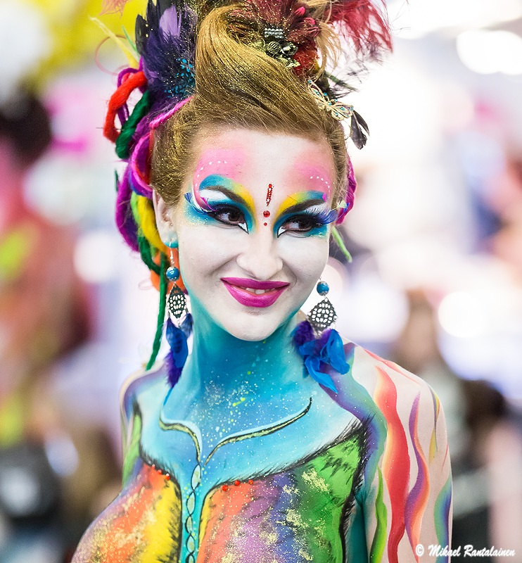 Body painting by Anette Paananen and Tuula Ropponen