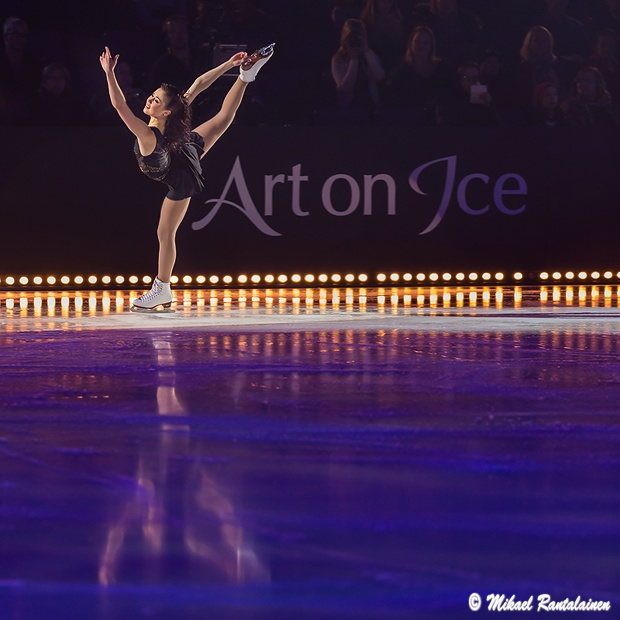 Laura Lepistö, Art on Ice 2014, Hartwall Arena, Helsinki, Finland
