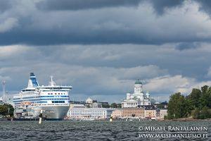 Silja Line and Helsinki Cathedral, Helsinki, Finland