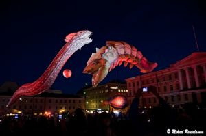 Plasticiens Volants, Perle, Night of the Arts, Senate Square, Helsinki