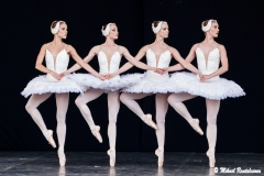 Svan Lake, Finnish National Ballet on Summer Tour 2012, Senate Square, Helsinki, Finland