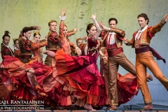 Fandango, Don Quijote, Finnish National Ballet on summer tour 2014, Helsinki, Finland