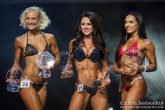 Winners of Sport Bikini category, Fitness Helsinki 2017, Helsinki, Finland